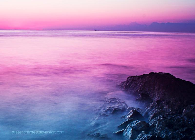 Paradise sunset by EliseEnchanted