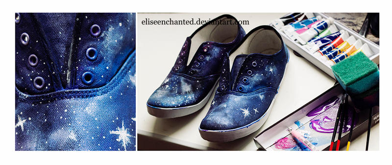 Galaxy shoes by EliseEnchanted