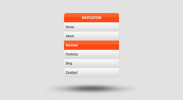 Vertical Navigation Menu PSD by An1ken