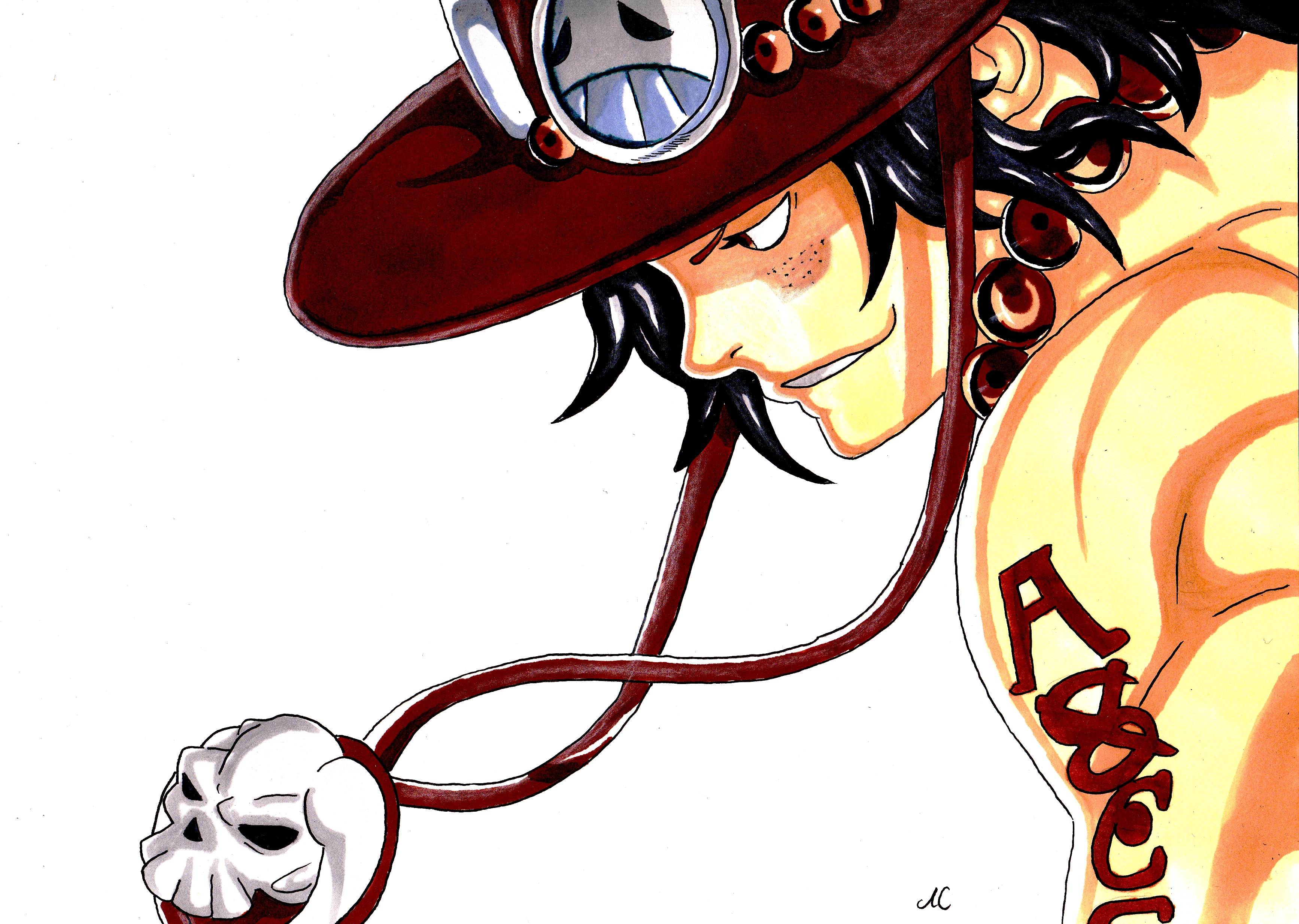 ace from one piece by Erua2 on DeviantArt