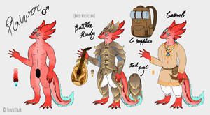 Rivrr Anthro Amphibian Dragon Character Sheet