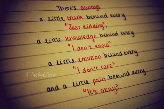 Always a little.