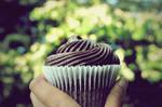 chocolate cupcake.