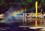 rainbows and reflections.