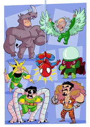Sinister Six Kids by VirtualBarata