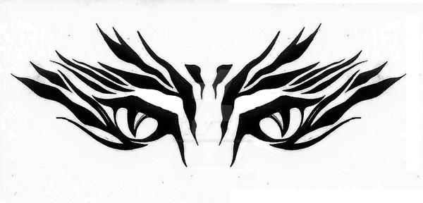 tribal tiger eyes