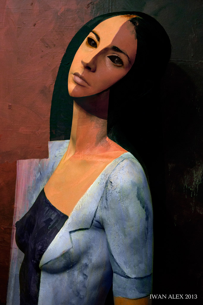 Portrait in style of Modigliani by Iwan-Alex