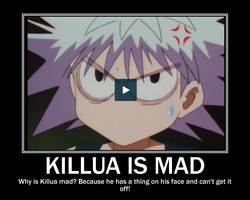 Killua is Mad by AnimeLover00001