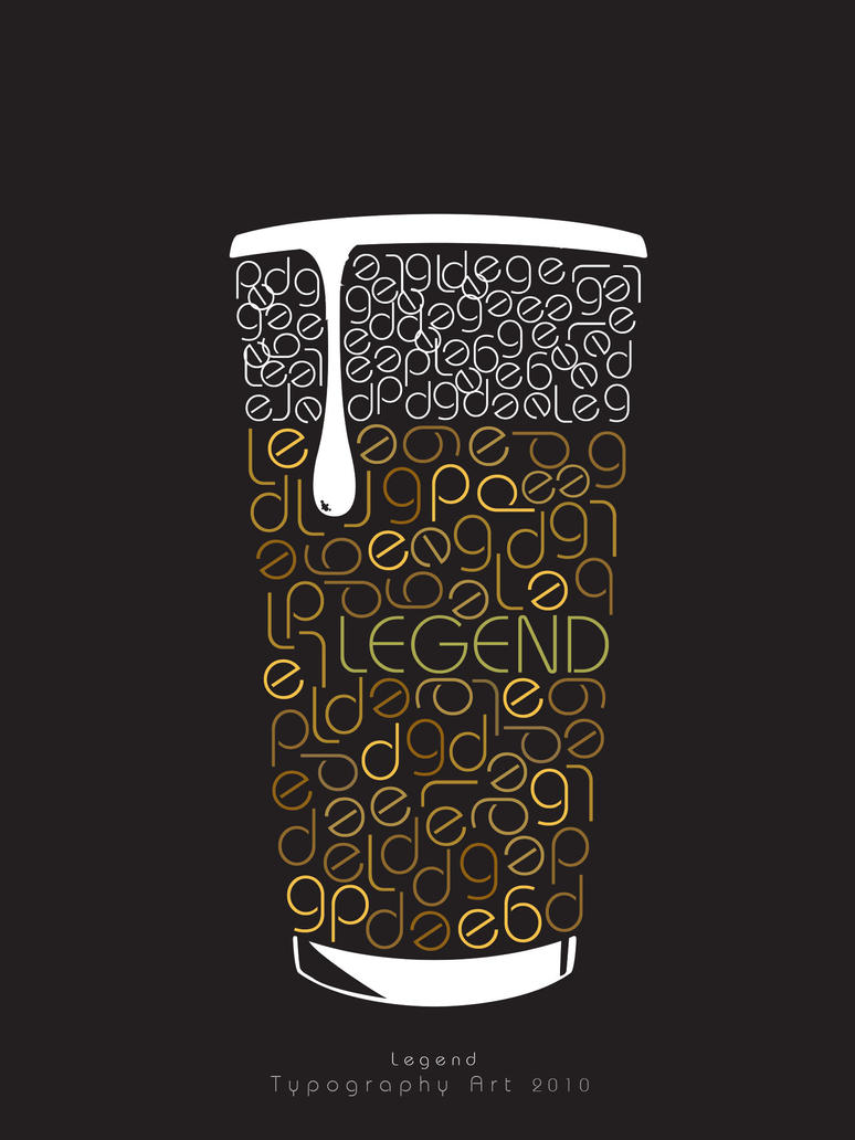 Legend Cup  Typography Art 3 by meDAHOM