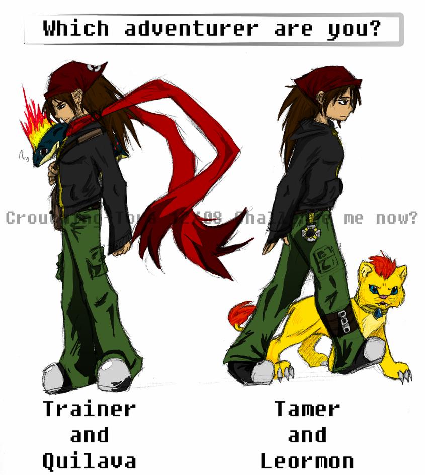 Trainer vs. Tamer by Crouching-Tora