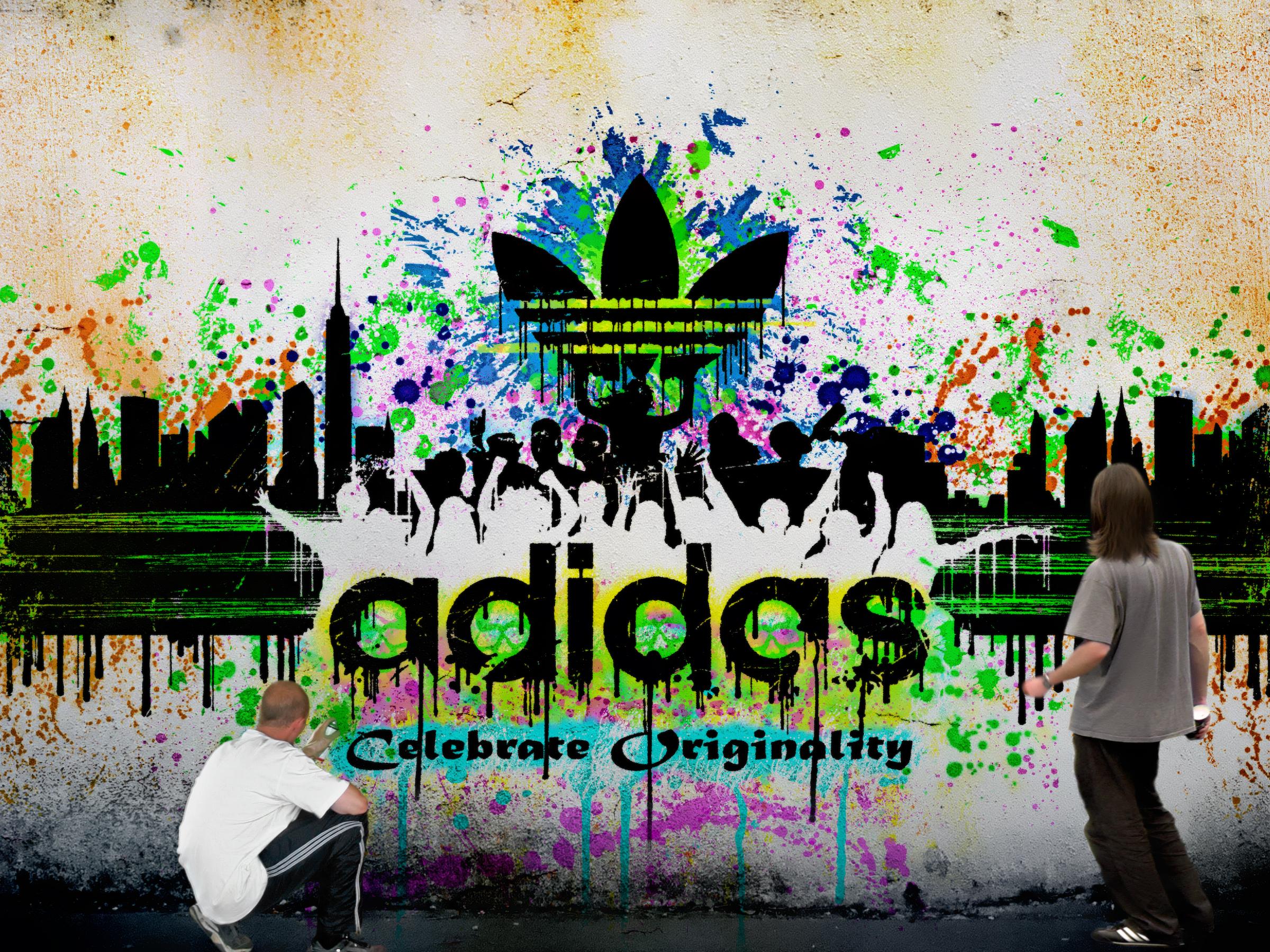 Graffitis de Adidas Logo Graffiti Adidas Logo