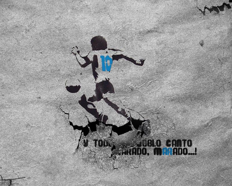 Maradona Stencil by fabricioabella on DeviantArt