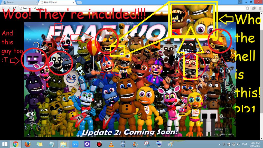 скачать игру через торрент Fnaf World Update 2 - фото 7