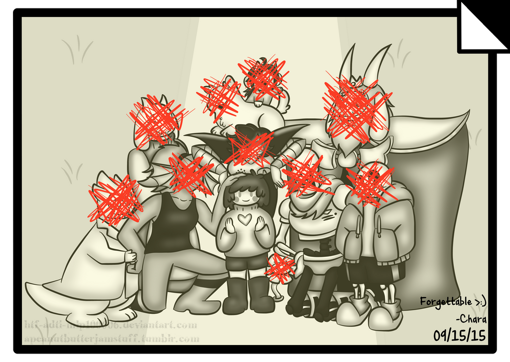 Undertale 1st year anniversary (Genocide) by HTF-ADTI-MLP100606