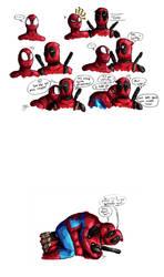 Spideypool: Spider Pheromones by xX-AVJ-Xx
