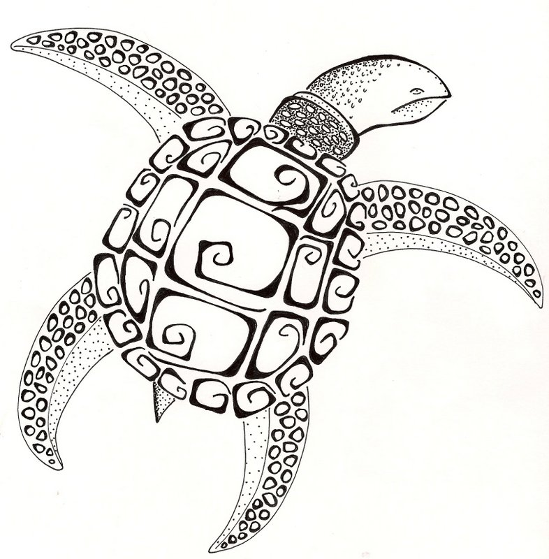 Native American Turtle Island Sea Turtle by SilverWi...