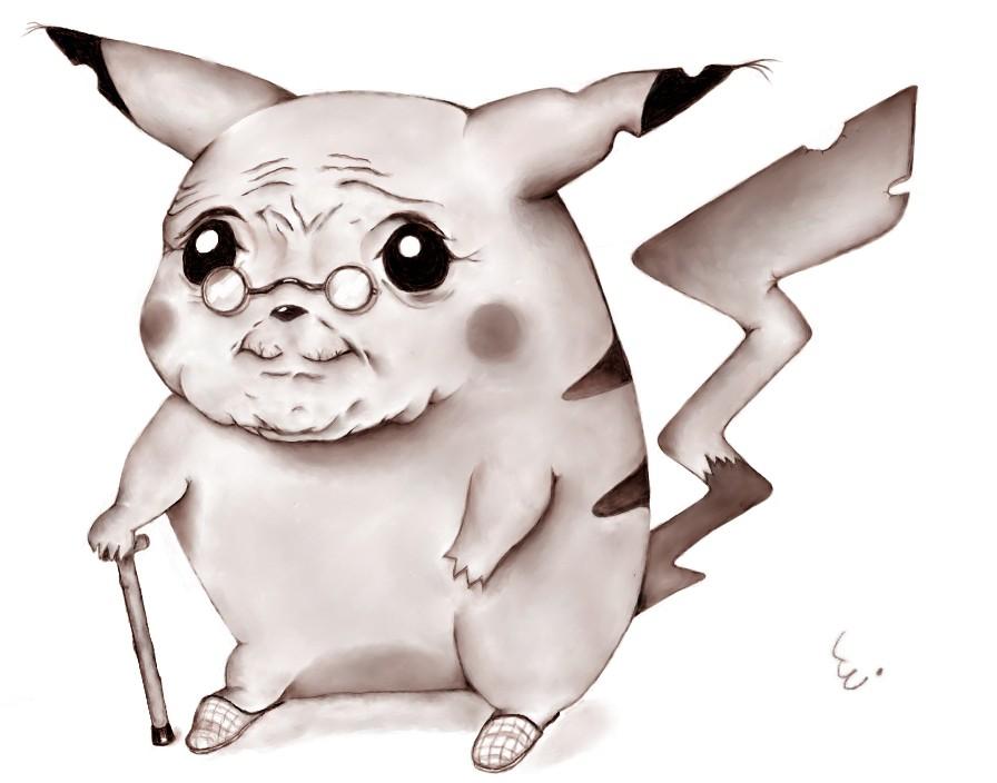 Image result for old man pikachu