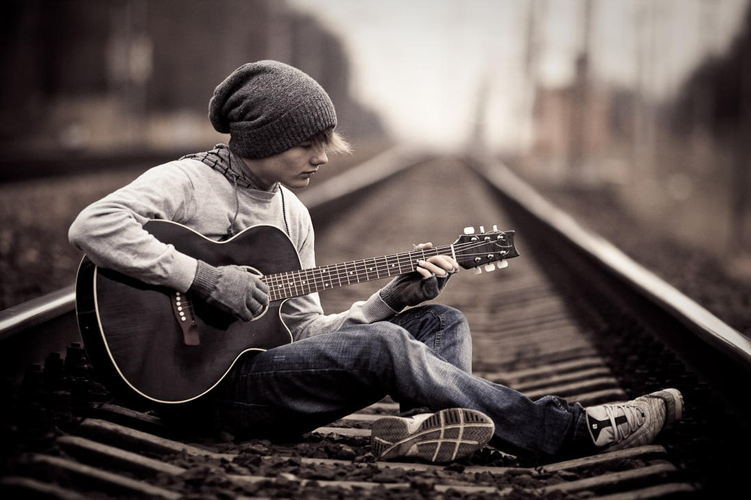 guitarist and railraod 3 by JunKarlo