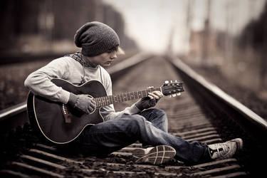 guitarist and railraod 3 by JunKarlo