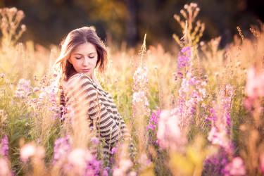 In the flower field by JunKarlo