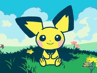 Pokemon Art Academy - Pichu by GamerGyrl