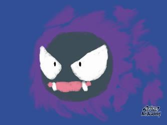 Pokemon Art Academy - Gastly (Quick Sketch) by GamerGyrl