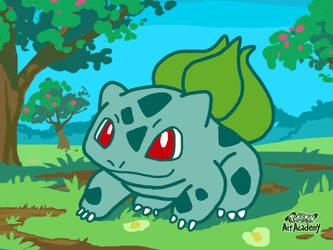 Pokemon Art Academy - Bulbasaur by GamerGyrl
