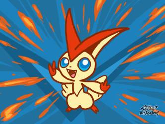 Pokemon Art Academy - Victini by GamerGyrl