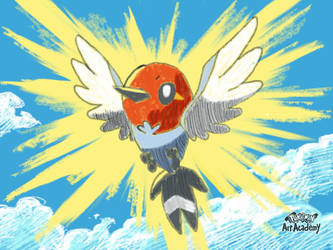 Pokemon Art Academy - Fletchling by GamerGyrl