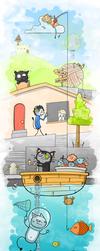 cat's dream by FaLLeNStAr666