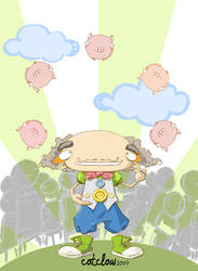 pig juggler by FaLLeNStAr666
