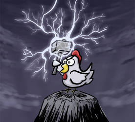 Chicken Thor by FredoSquirrel