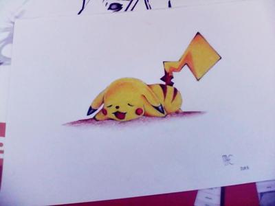 Pikachuu ^^ (drawing) by irisdrawings