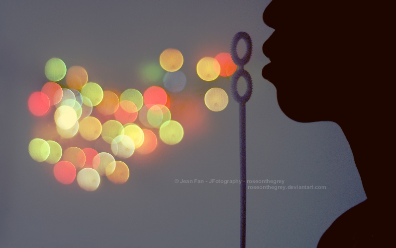 bokeh bubbles by ~roseonthegrey
