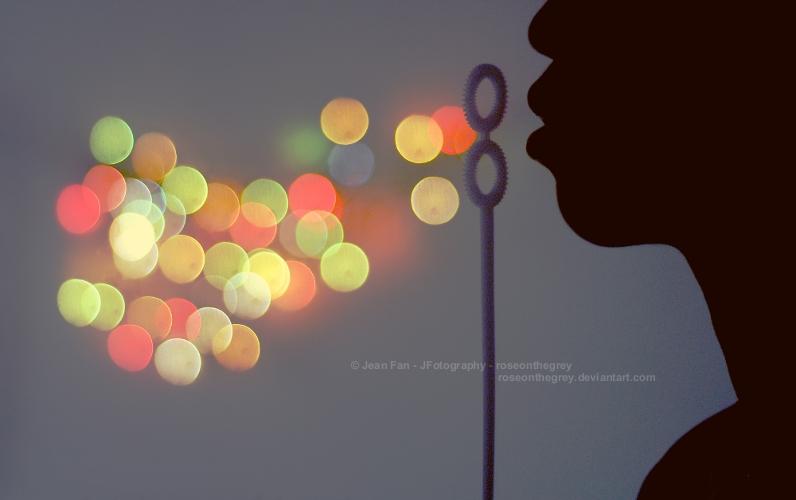 bokeh bubbles by JeanFan