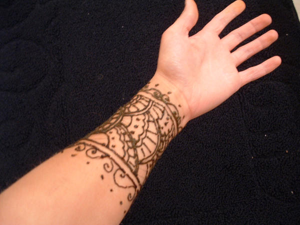 Mehndi Tattoo On Wrist : Henna tattoo wrist by finny on deviantart