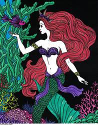 Mermaid Velvet Poster Art Colored By MarinaL 2018