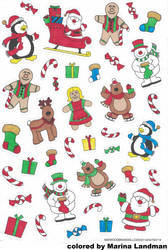 Xmas Stickers By MarinaL.
