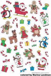 Xmas Stickers By MarinaL.