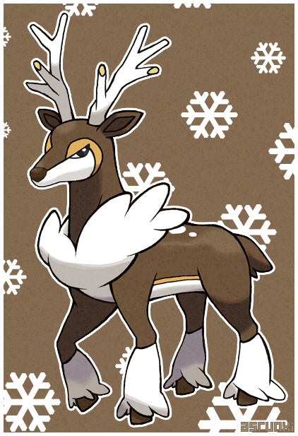 pokemon sawsbuck winter coloring pages - photo#18