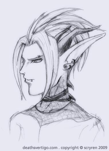 Elf Sketch 26 by scryren