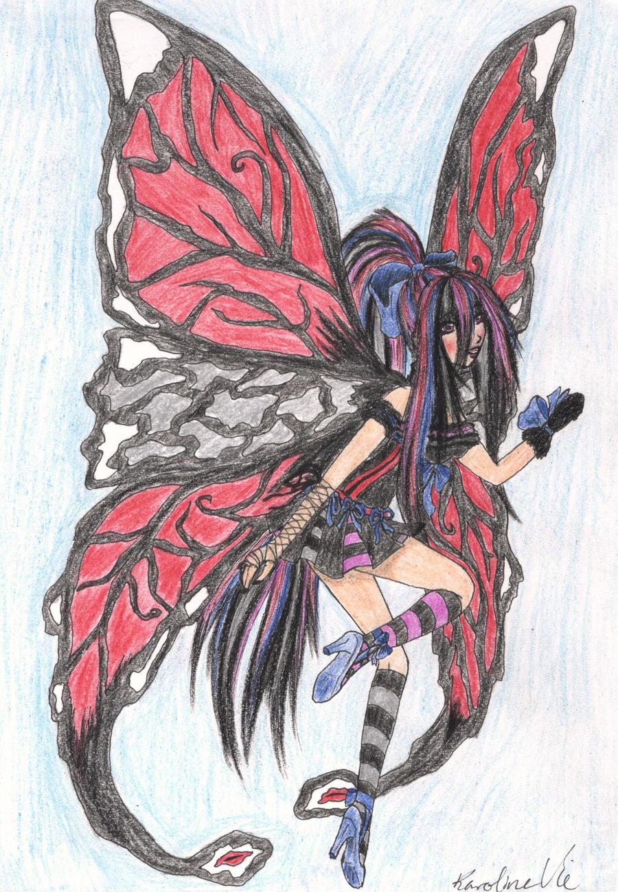 gothic butterfly fairy by karovie on deviantart