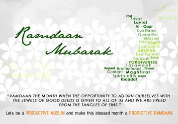Ramdaan Mubarak by AMFdesigns