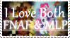I Love Both FNAF and MLP - Stamp by AngelOfTheWisp