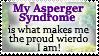 Asperger Syndrome FTW - Stamp