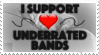 Underrated Bands (Size Friendly Ver.) - Stamp by AngelOfThe9thRune