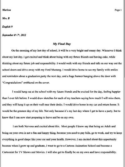 My 9th Grade Essay About After Graduation by AngelOfTheWisp on ...