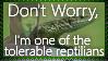 Tolerable Reptilian - Stamp by AngelOfTheWisp