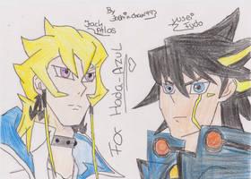 colored jack and yusei by matsuri2009