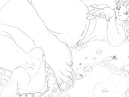 Giantess Bulma by Dominex